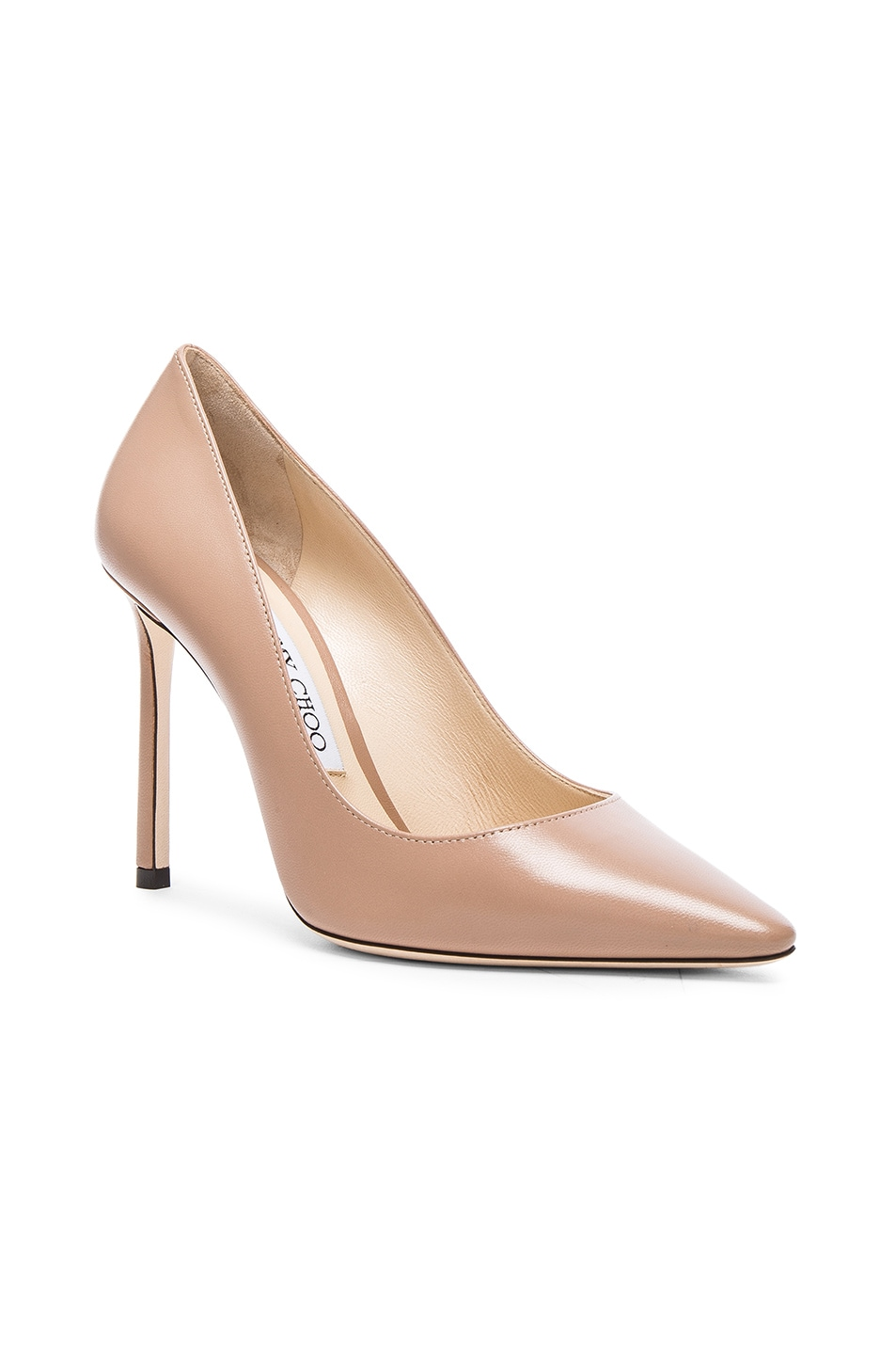 Image 2 of Jimmy Choo Romy 100 Leather Pumps in Ballet Pink