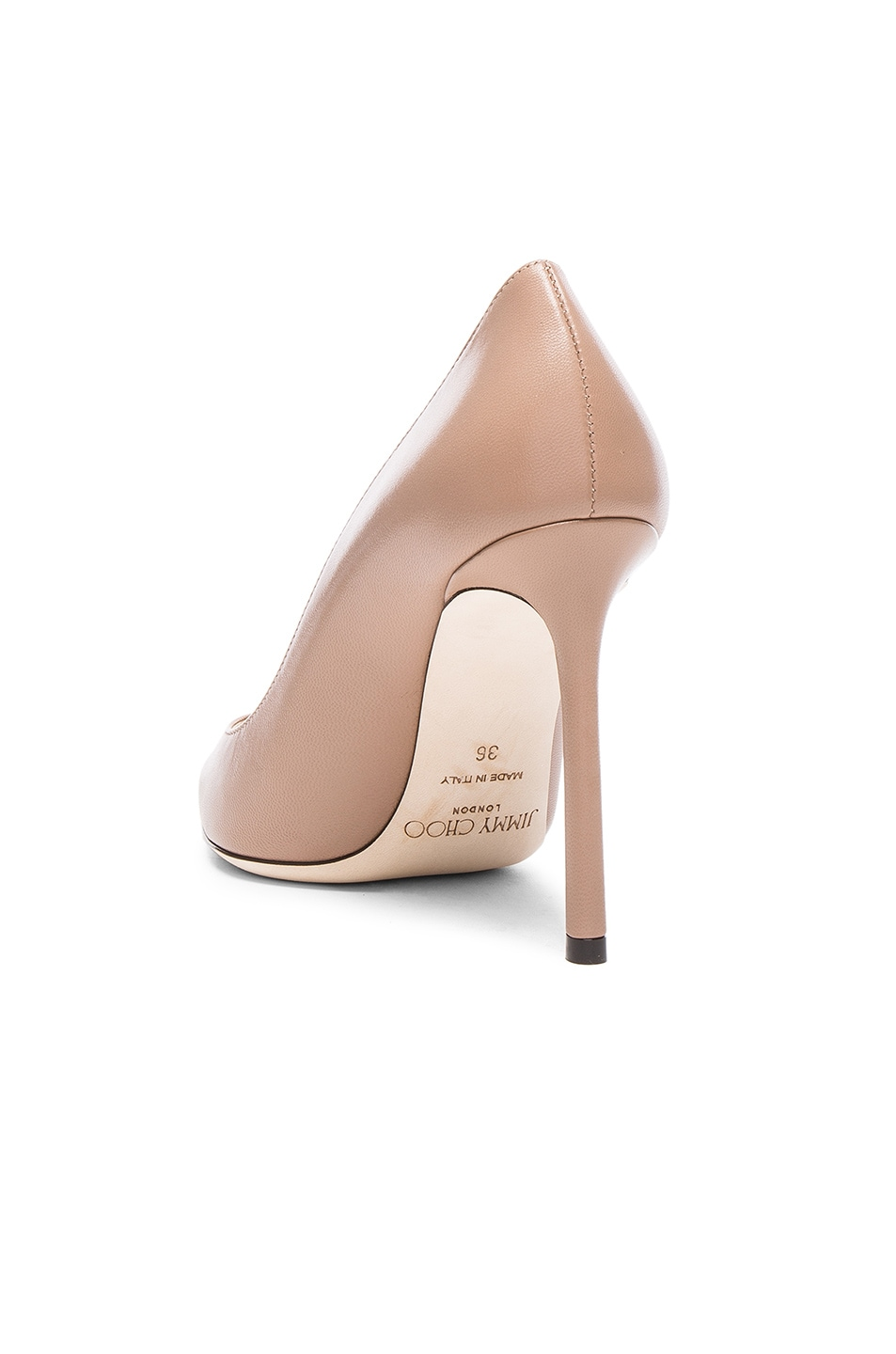 Image 3 of Jimmy Choo Romy 100 Leather Pumps in Ballet Pink