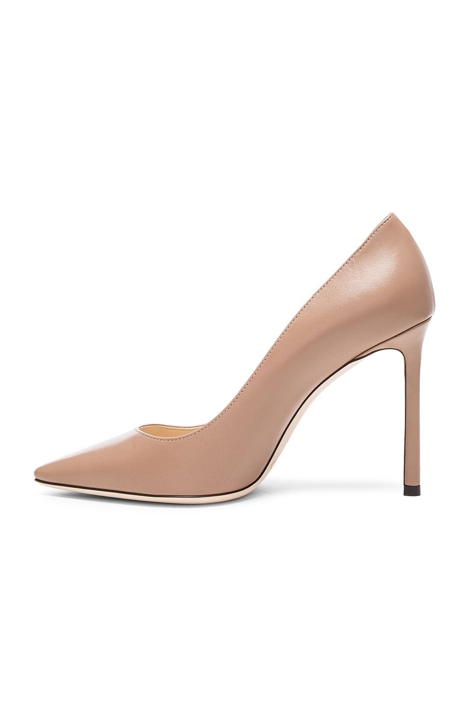 Image 5 of Jimmy Choo Romy 100 Leather Pumps in Ballet Pink