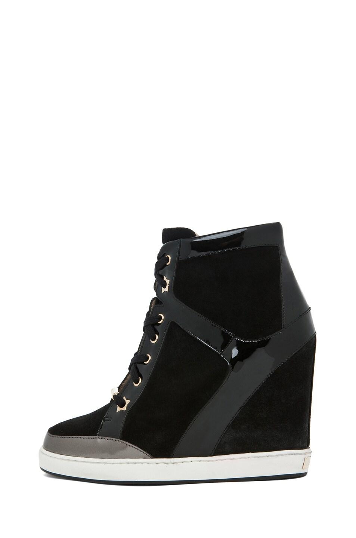Image 1 of Jimmy Choo Panama Wedge Sneaker in Black