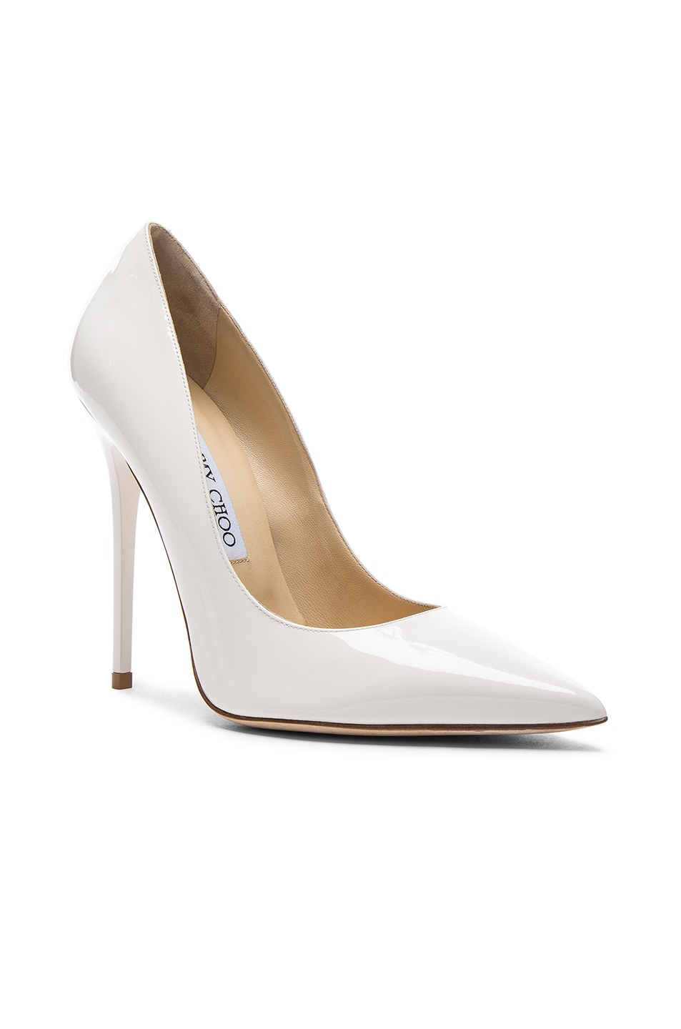 Image 2 of Jimmy Choo Patent Leather Anouk Pumps in Chalk