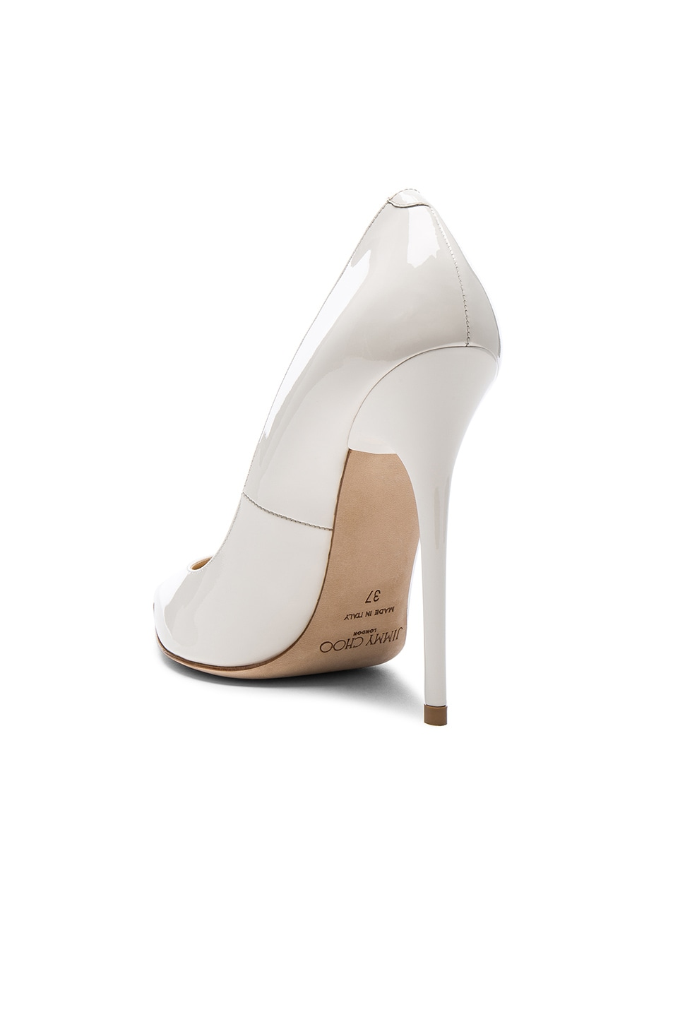 Image 3 of Jimmy Choo Patent Leather Anouk Pumps in Chalk