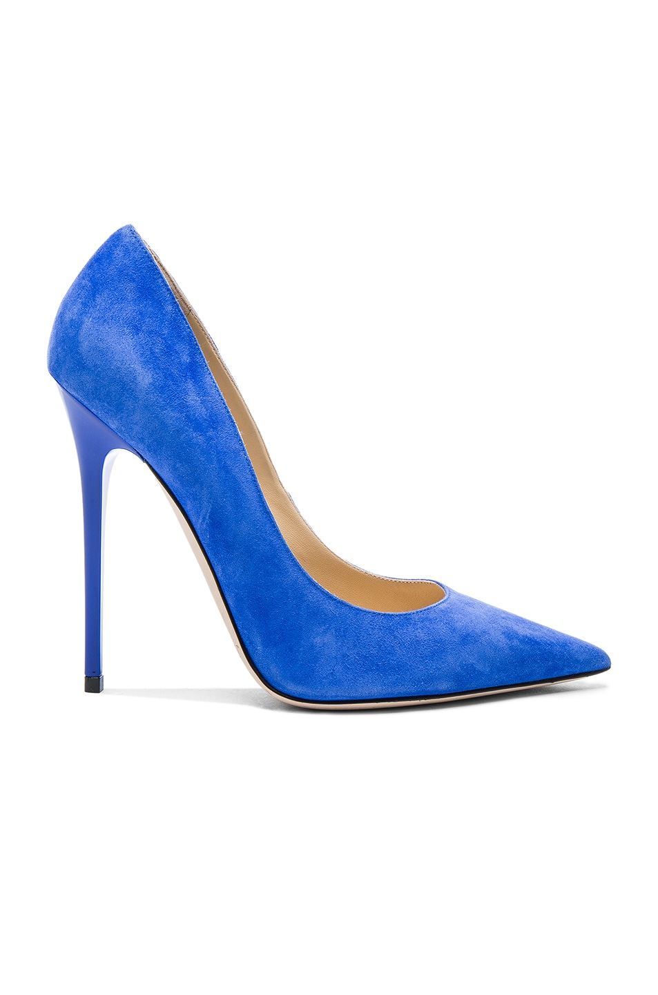 Image 1 of Jimmy Choo Suede Anouk Pumps in Cobalt