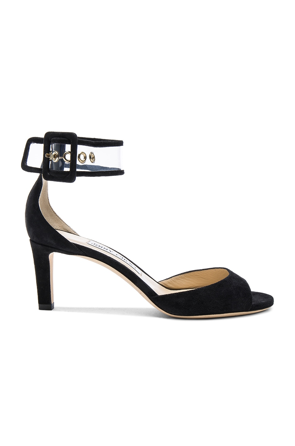 Image 1 of Jimmy Choo Moscow Heel in Black & Clear