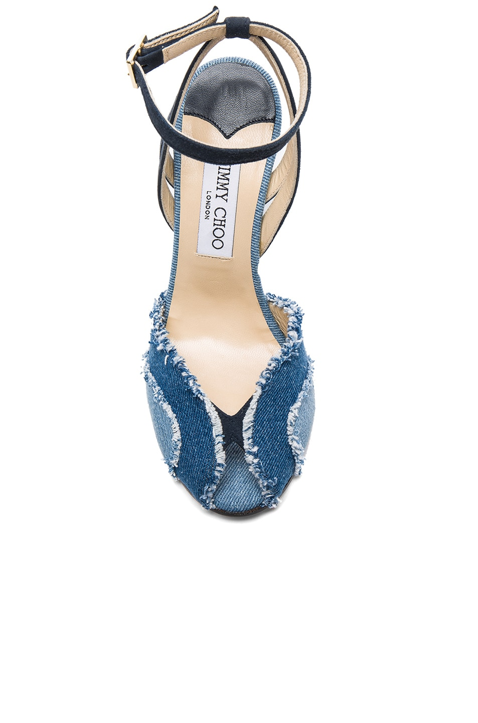 Image 4 of Jimmy Choo Damon Wedge in Light Indigo Mix