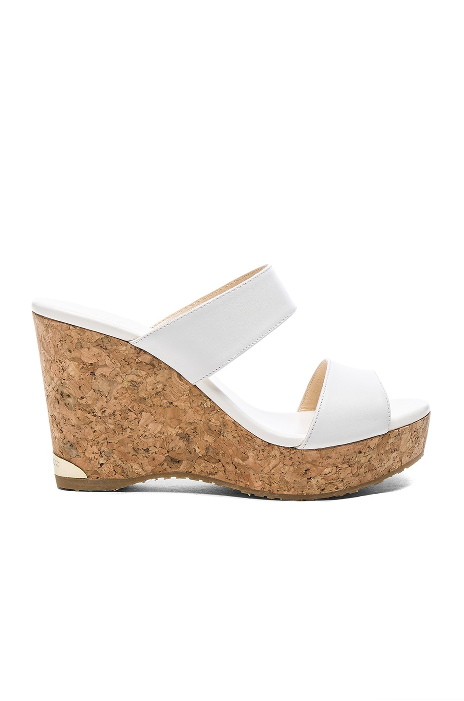 Image 1 of Jimmy Choo Parker 100 Leather Wedge in White