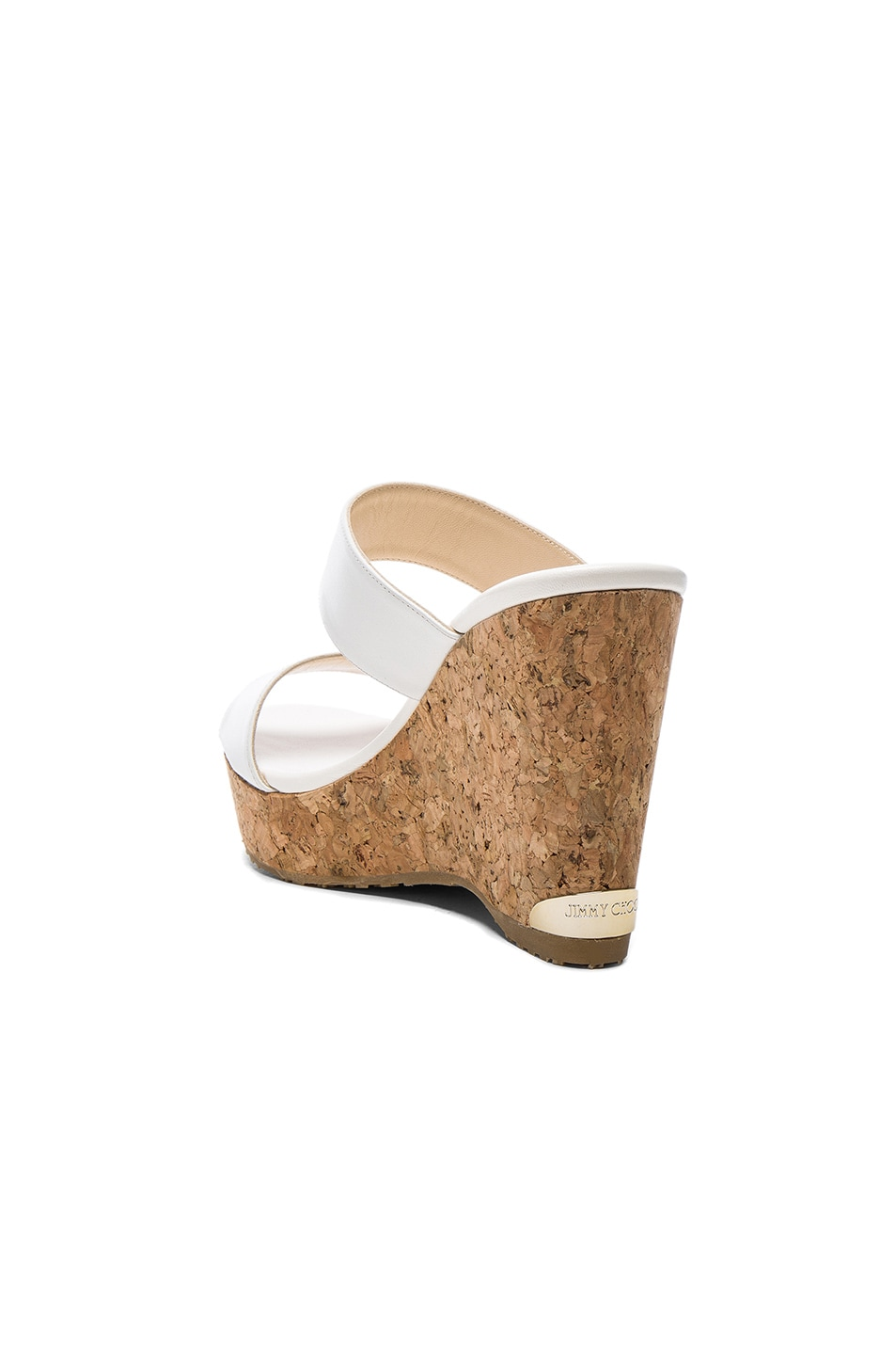 Image 3 of Jimmy Choo Parker Wedge in White