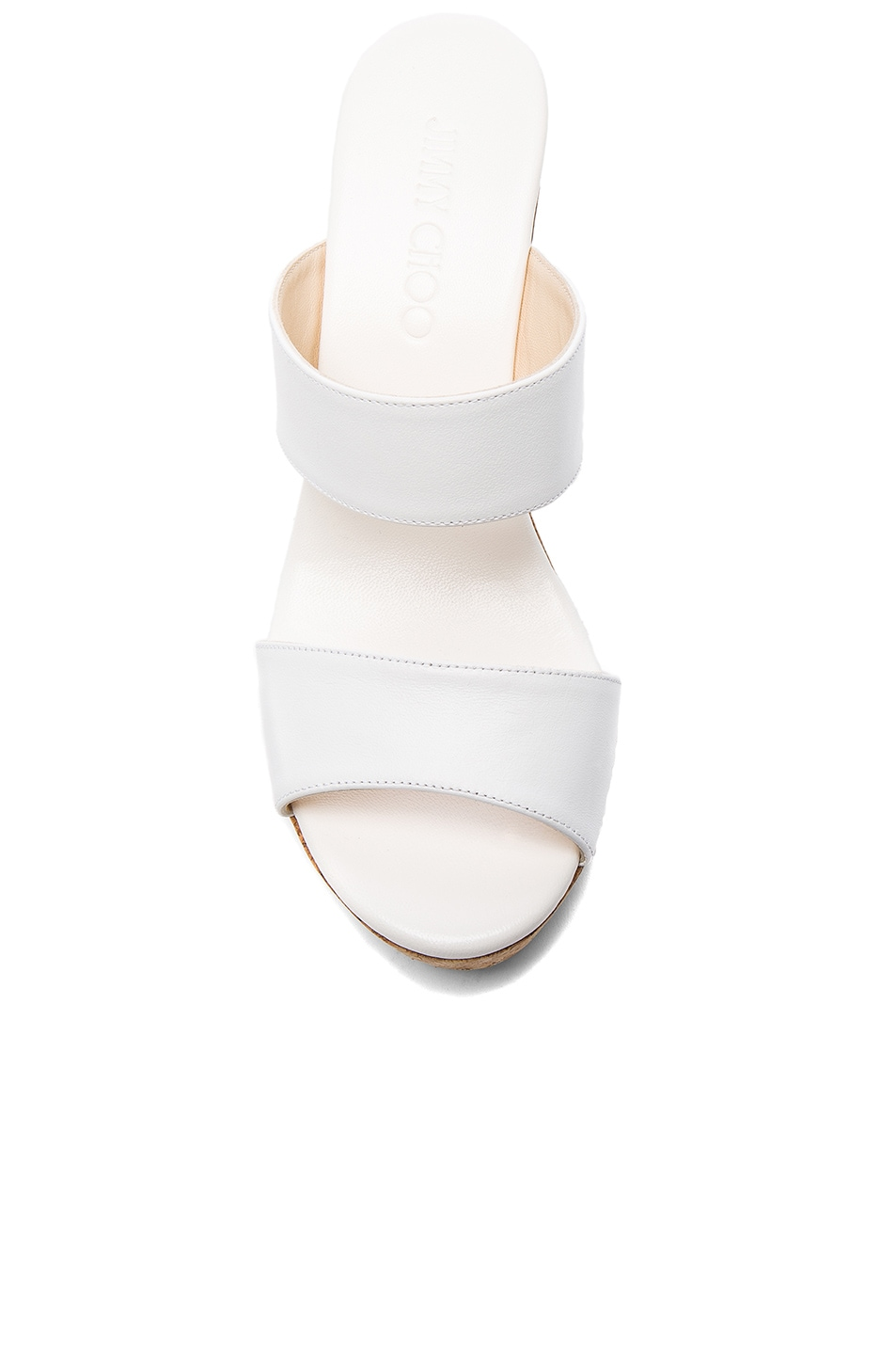 Image 4 of Jimmy Choo Parker Wedge in White
