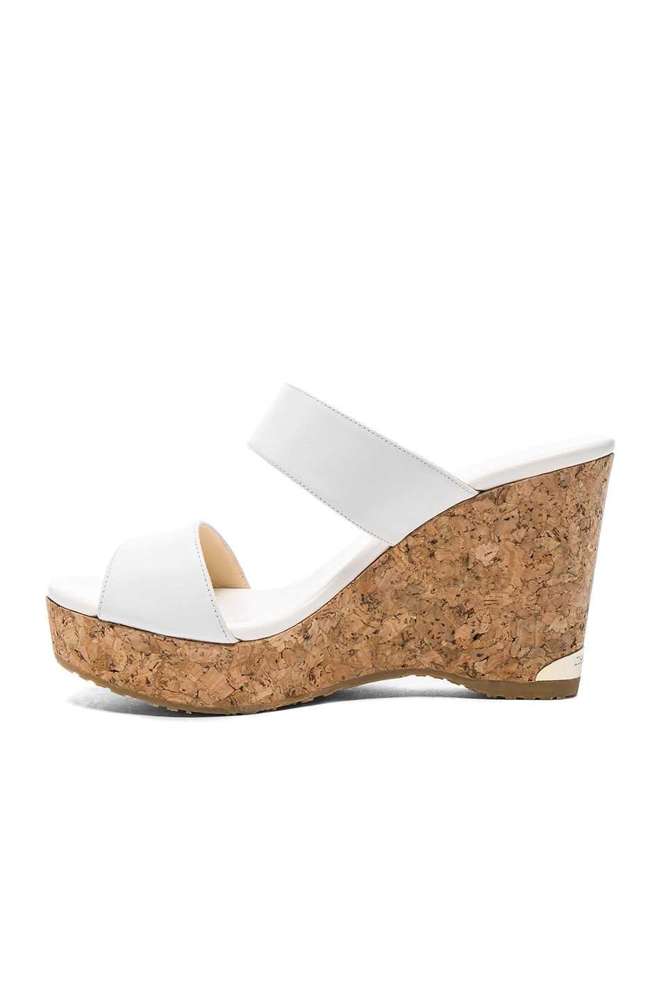 Image 5 of Jimmy Choo Parker Wedge in White