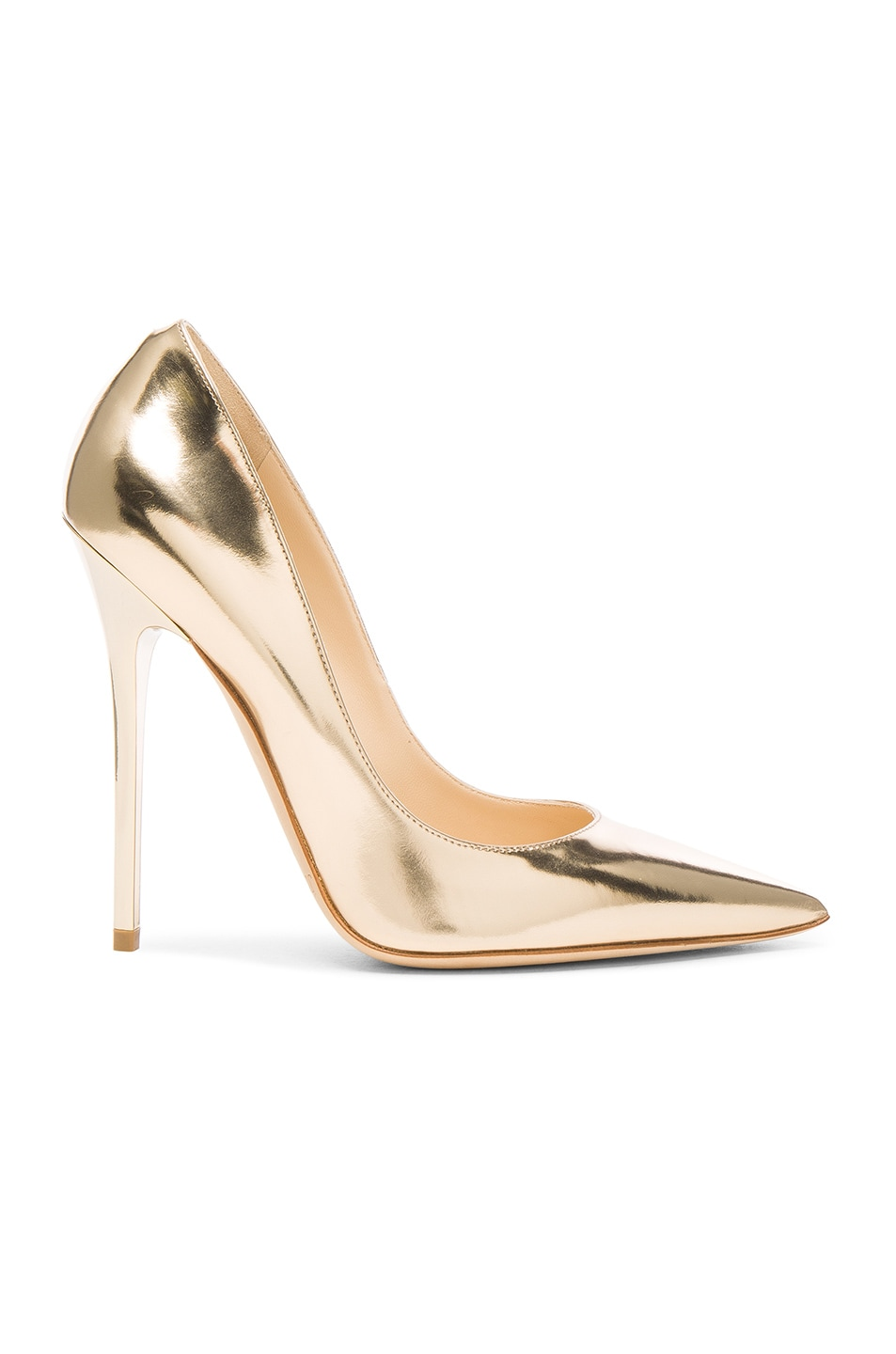 Image 1 of Jimmy Choo Leather Anouk Heels in Dore
