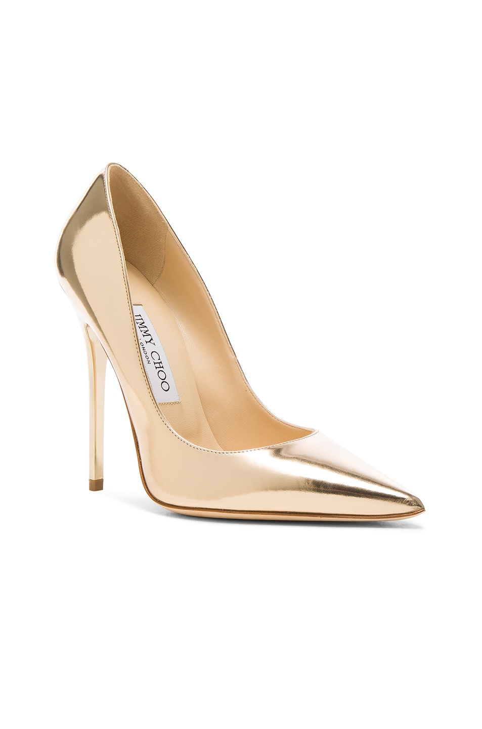 Image 2 of Jimmy Choo Leather Anouk Heels in Dore