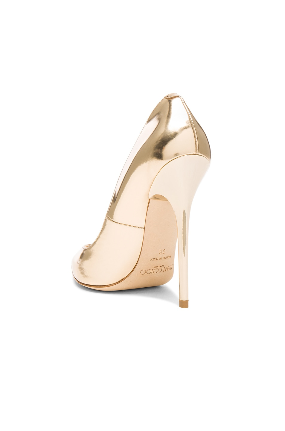 Image 3 of Jimmy Choo Leather Anouk Heels in Dore