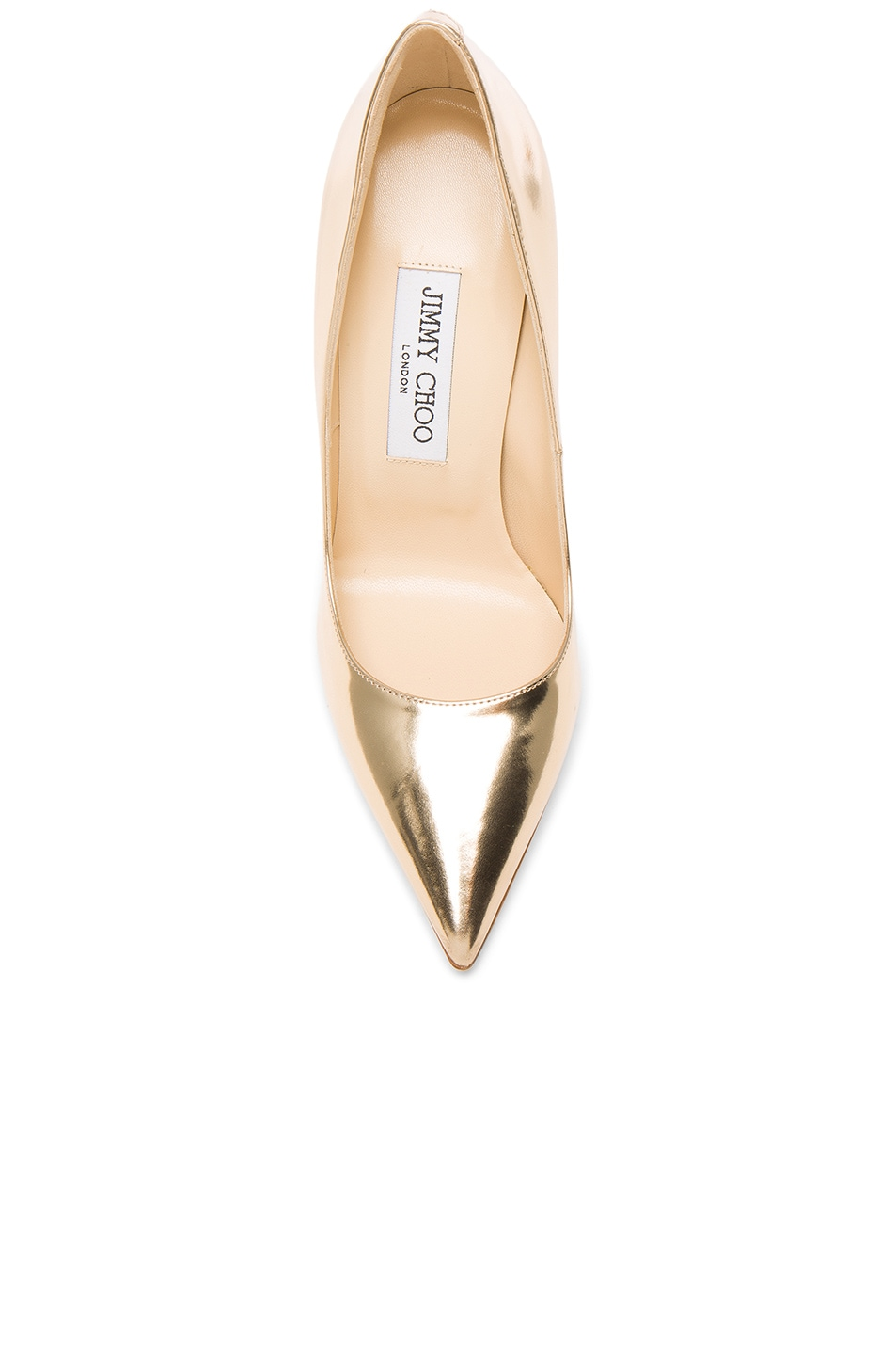 Image 4 of Jimmy Choo Leather Anouk Heels in Dore