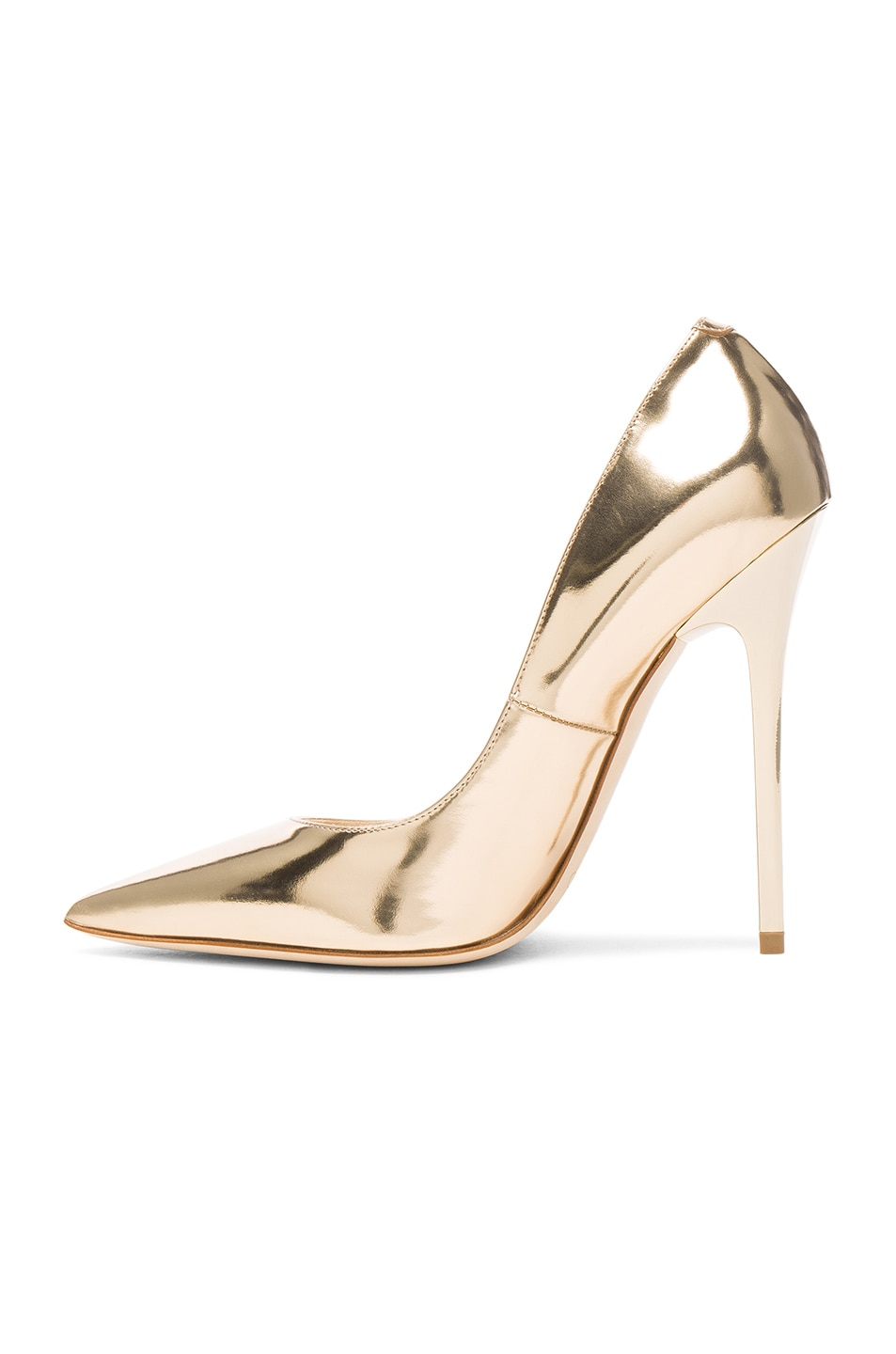 Image 5 of Jimmy Choo Leather Anouk Heels in Dore