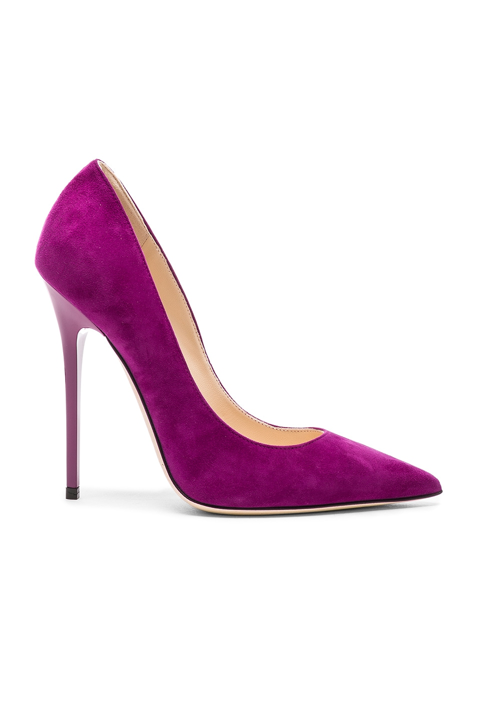 Image 1 of Jimmy Choo Suede Anouk Heels in Madeline