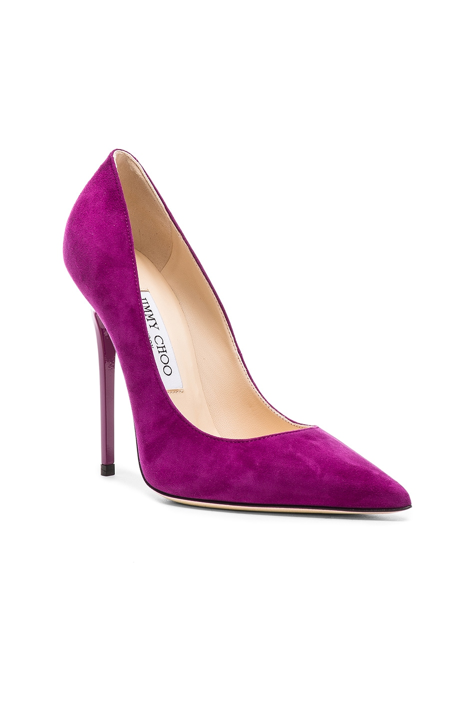 Image 2 of Jimmy Choo Suede Anouk Heels in Madeline