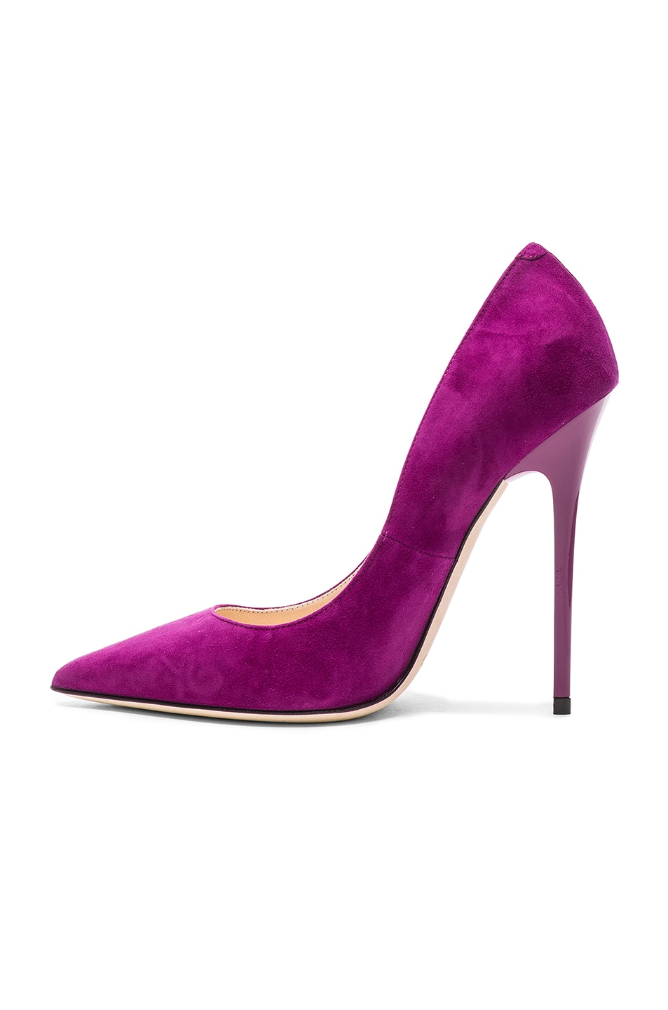 Image 5 of Jimmy Choo Suede Anouk Heels in Madeline