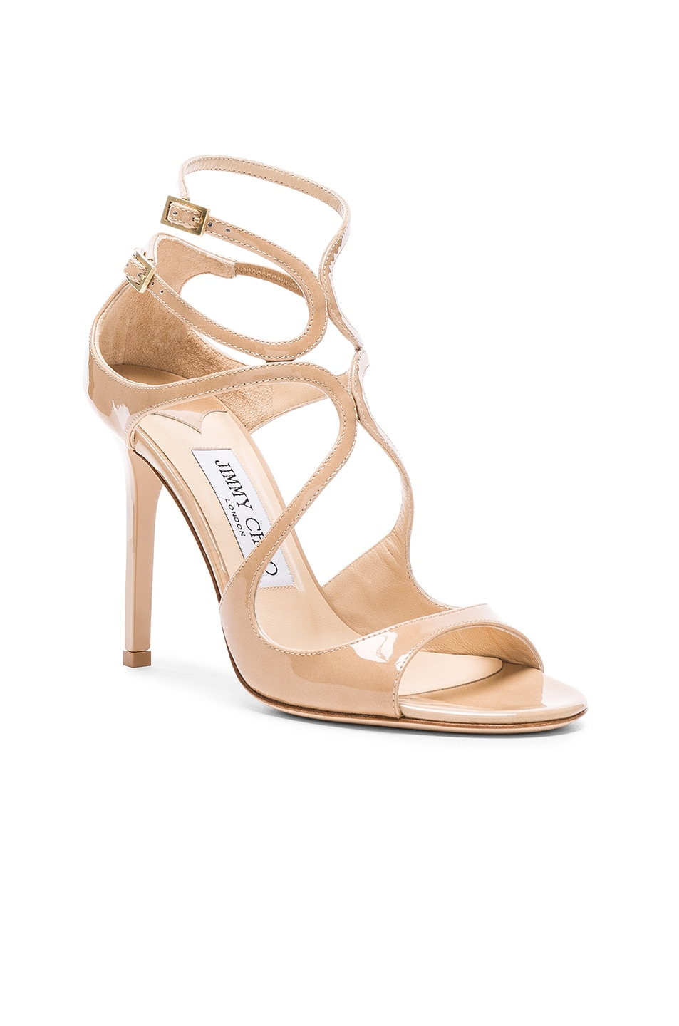 Image 2 of Jimmy Choo Patent Leather Lang Heels in Nude