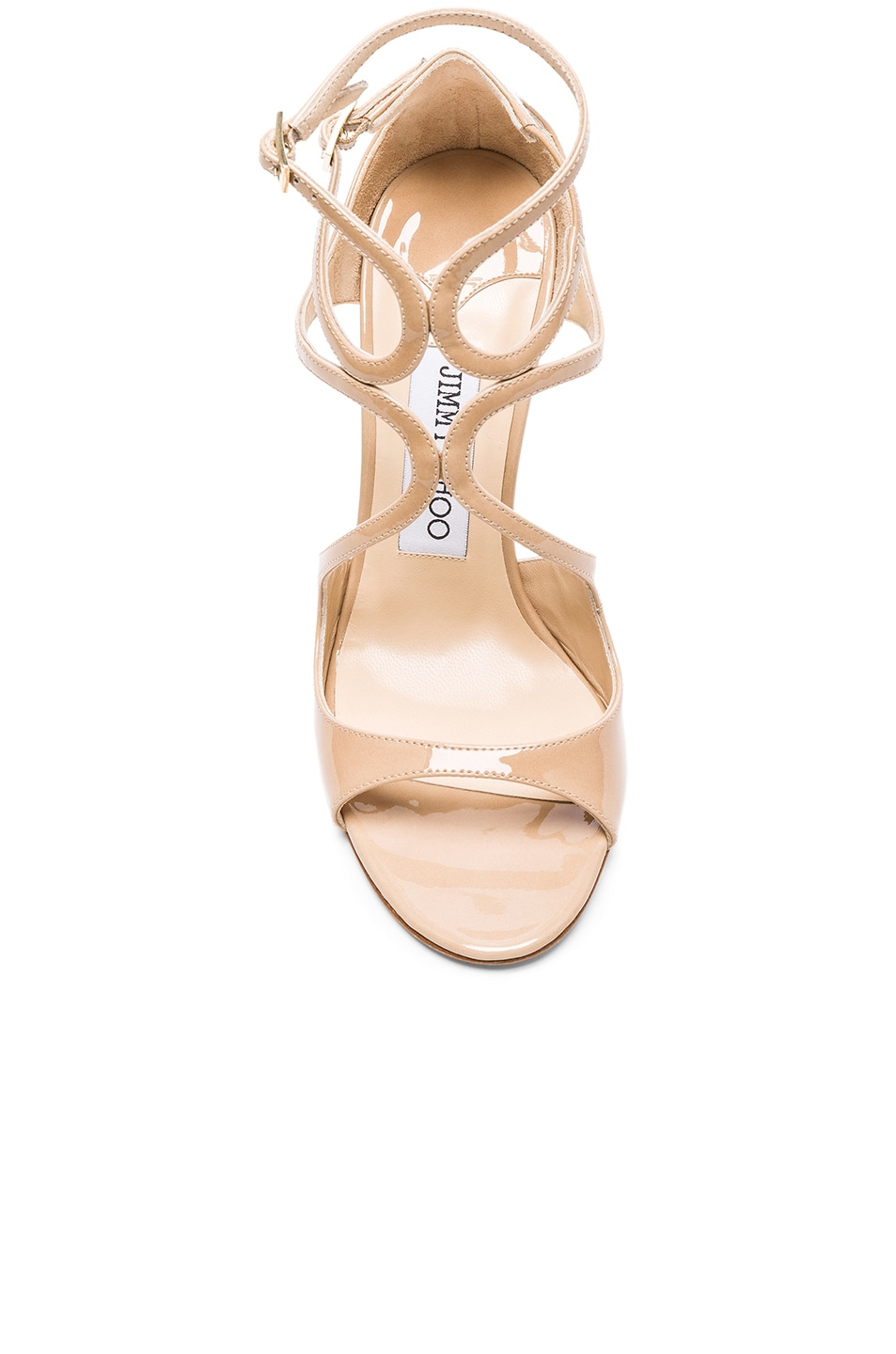 Image 4 of Jimmy Choo Patent Leather Lang Heels in Nude
