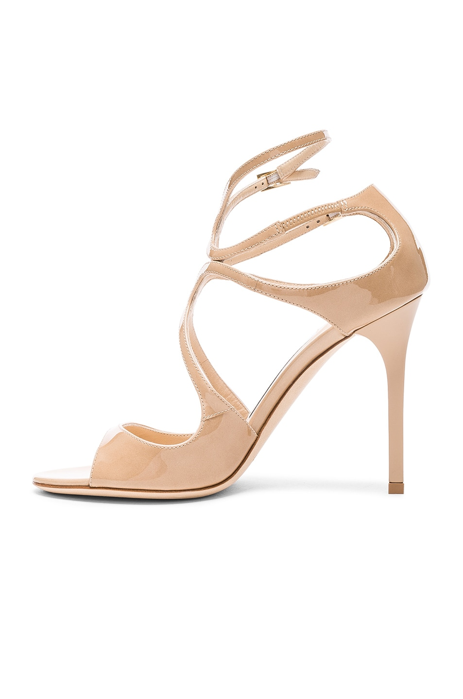 Image 5 of Jimmy Choo Patent Leather Lang Heels in Nude