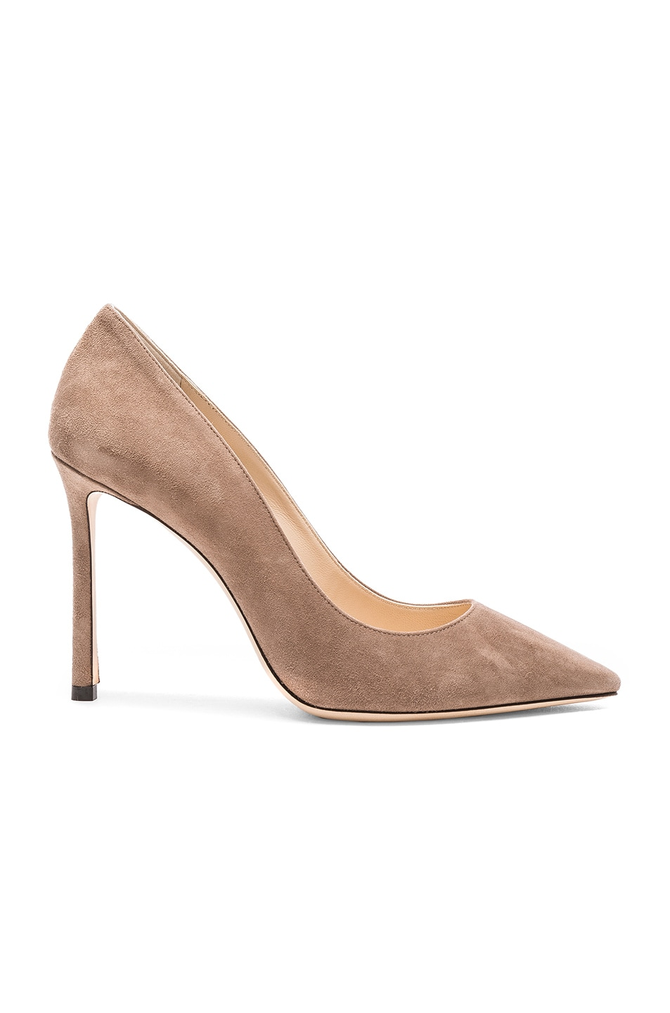 Image 1 of Jimmy Choo Suede Romy Heels in Light Mocha