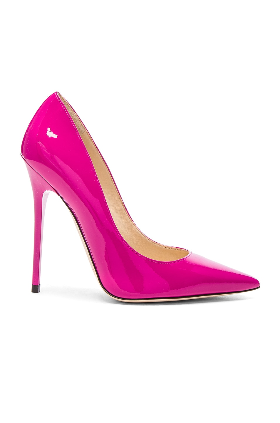 Image 1 of Jimmy Choo Patent Leather Anouk Heels in Jazzberry