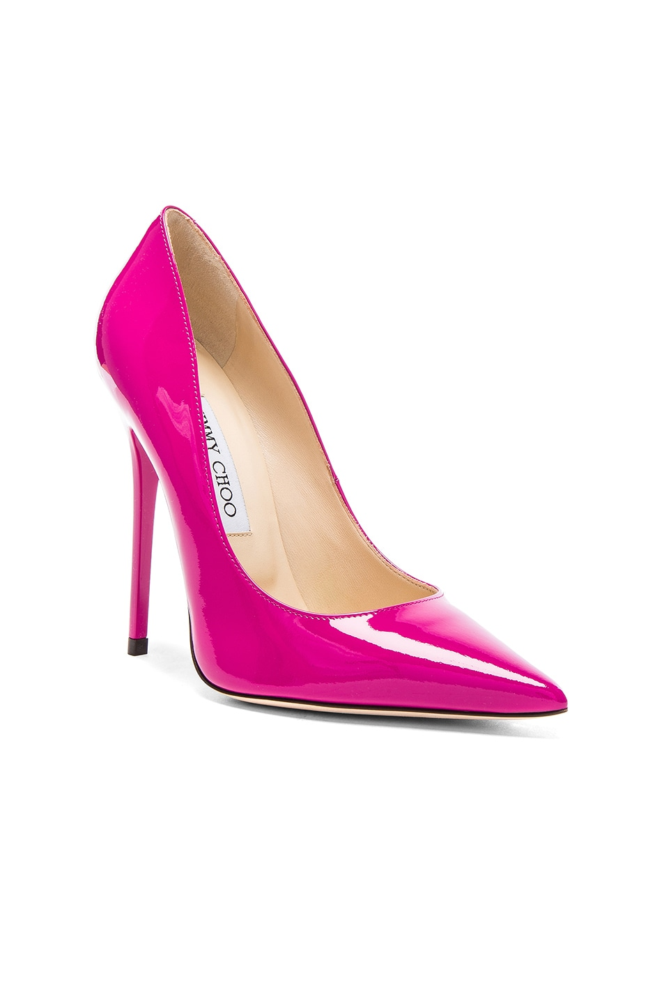 Image 2 of Jimmy Choo Patent Leather Anouk Heels in Jazzberry