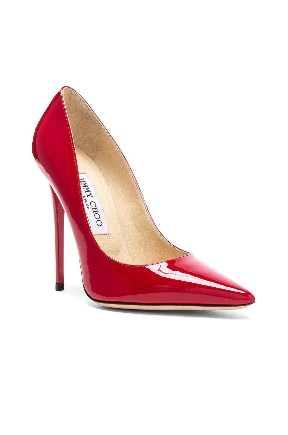 Image 2 of Jimmy Choo Anouk 120 Patent Leather Pump in Red