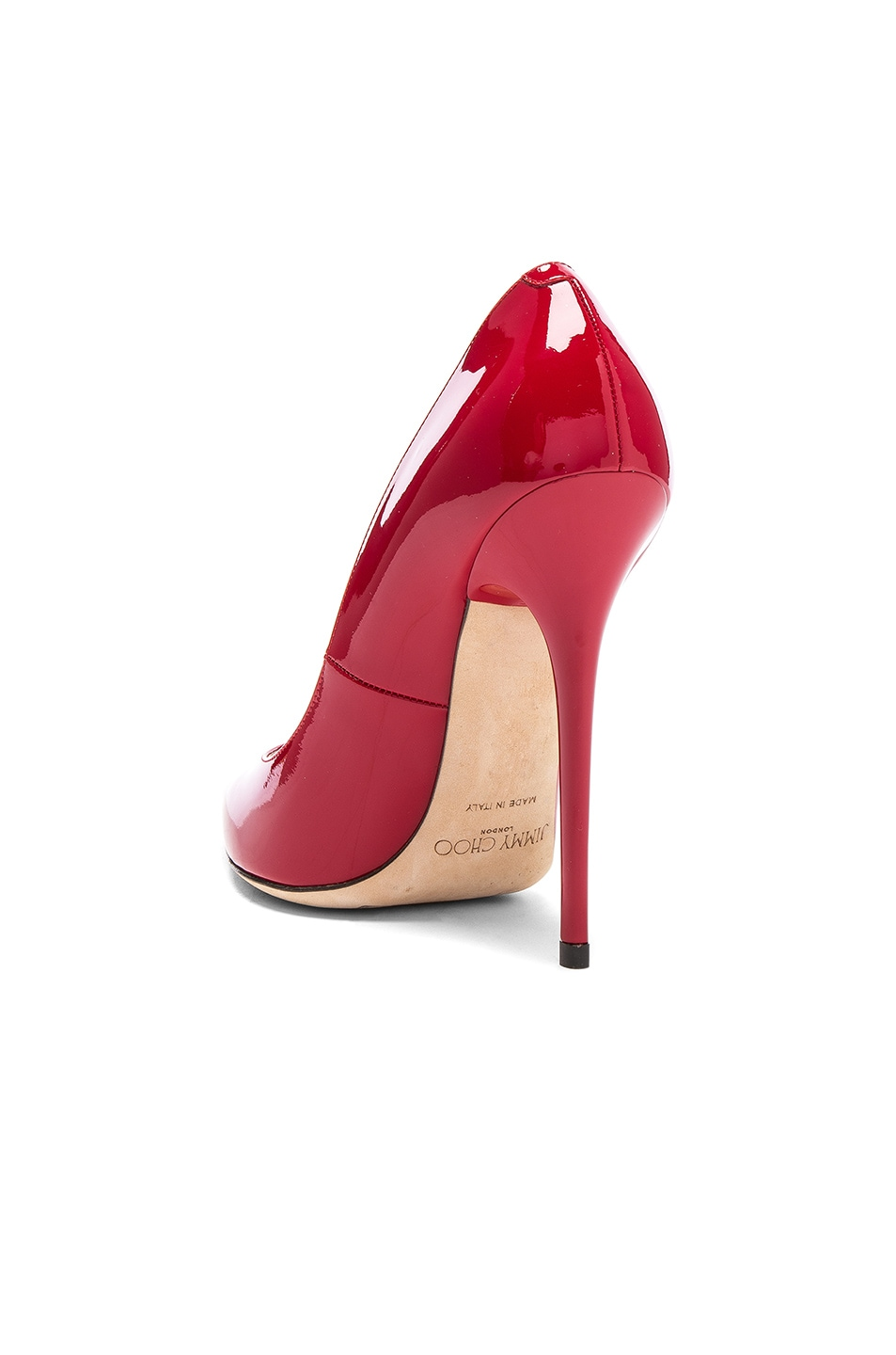 Image 3 of Jimmy Choo Anouk 120 Patent Leather Pump in Red