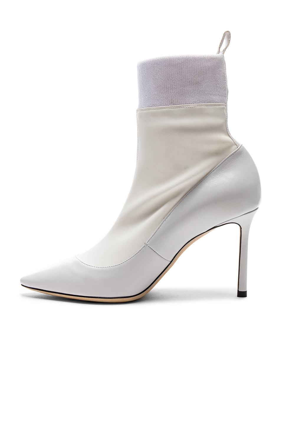 Image 5 of Jimmy Choo Brandon 85 Leather Boots in White