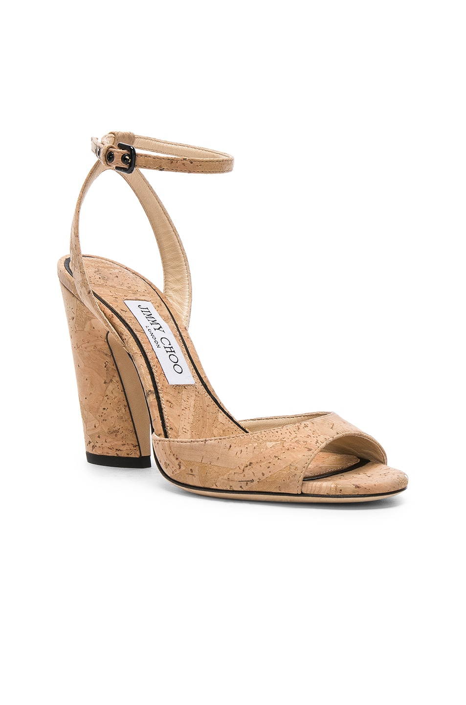 7af1d83f78e1 Image 2 of Jimmy Choo Miranda 100 Cork Sandal in Nude