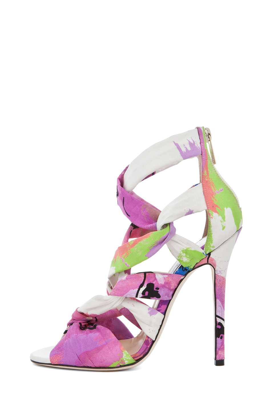 Image 1 of Jimmy Choo Kemble Floral Heel in Pink Mix