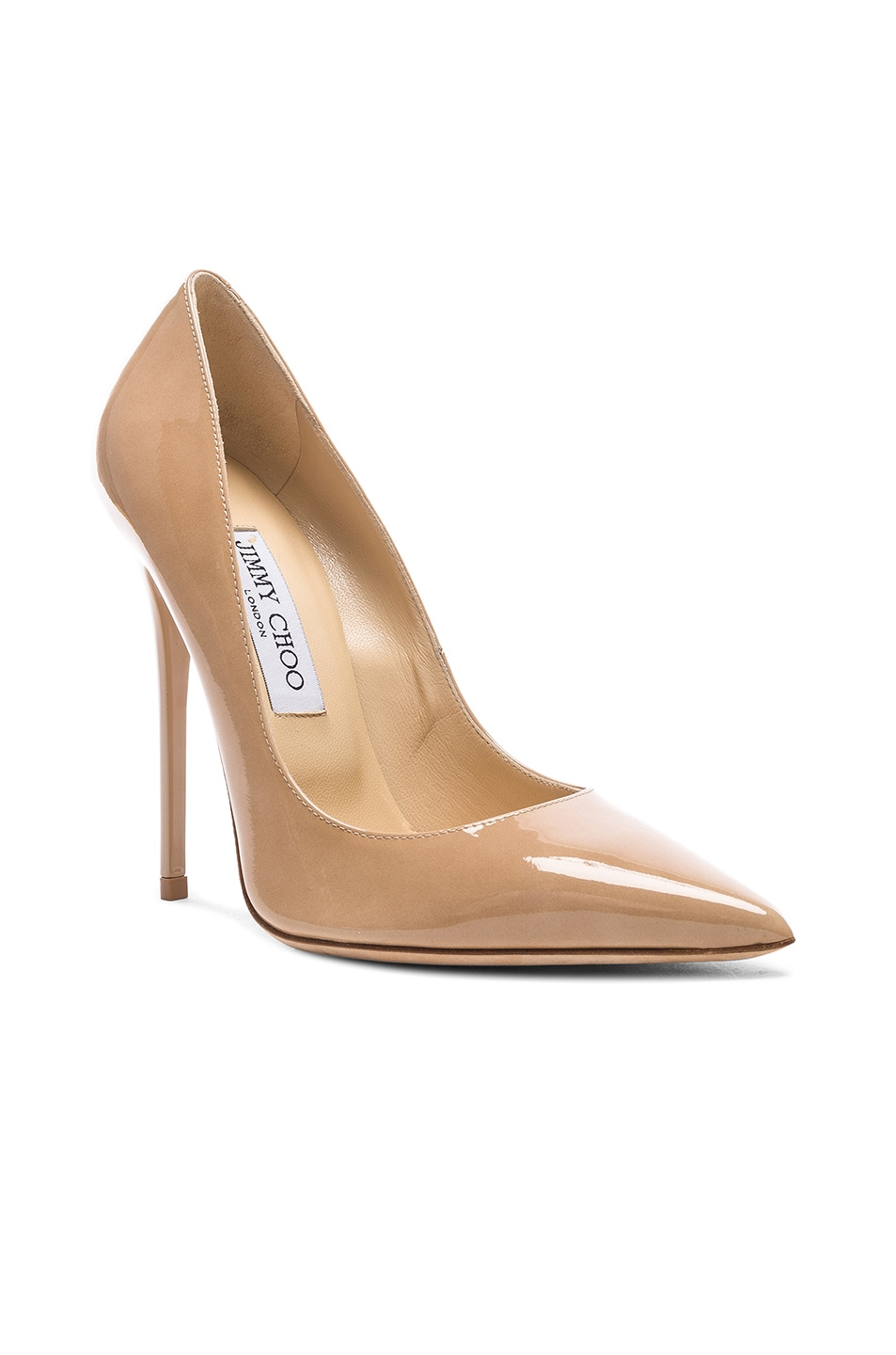 Image 2 of Jimmy Choo Anouk 120 Patent Leather Pump in Nude