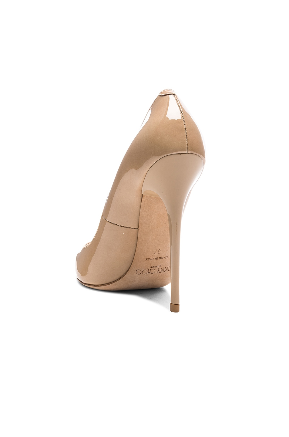 Image 3 of Jimmy Choo Anouk 120 Patent Leather Pump in Nude