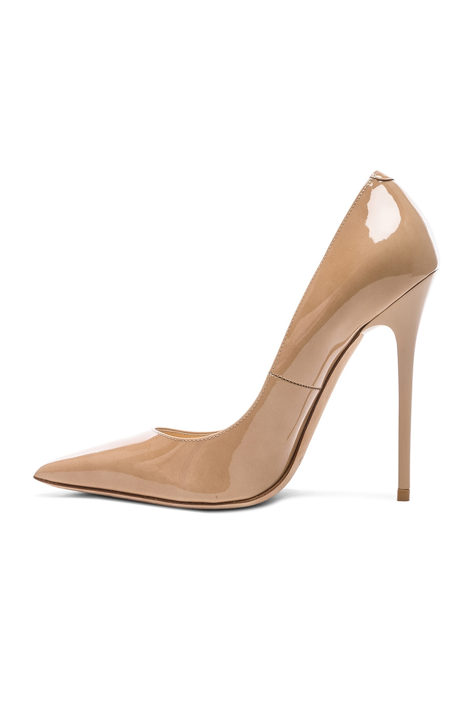 Image 5 of Jimmy Choo Anouk 120 Patent Leather Pump in Nude