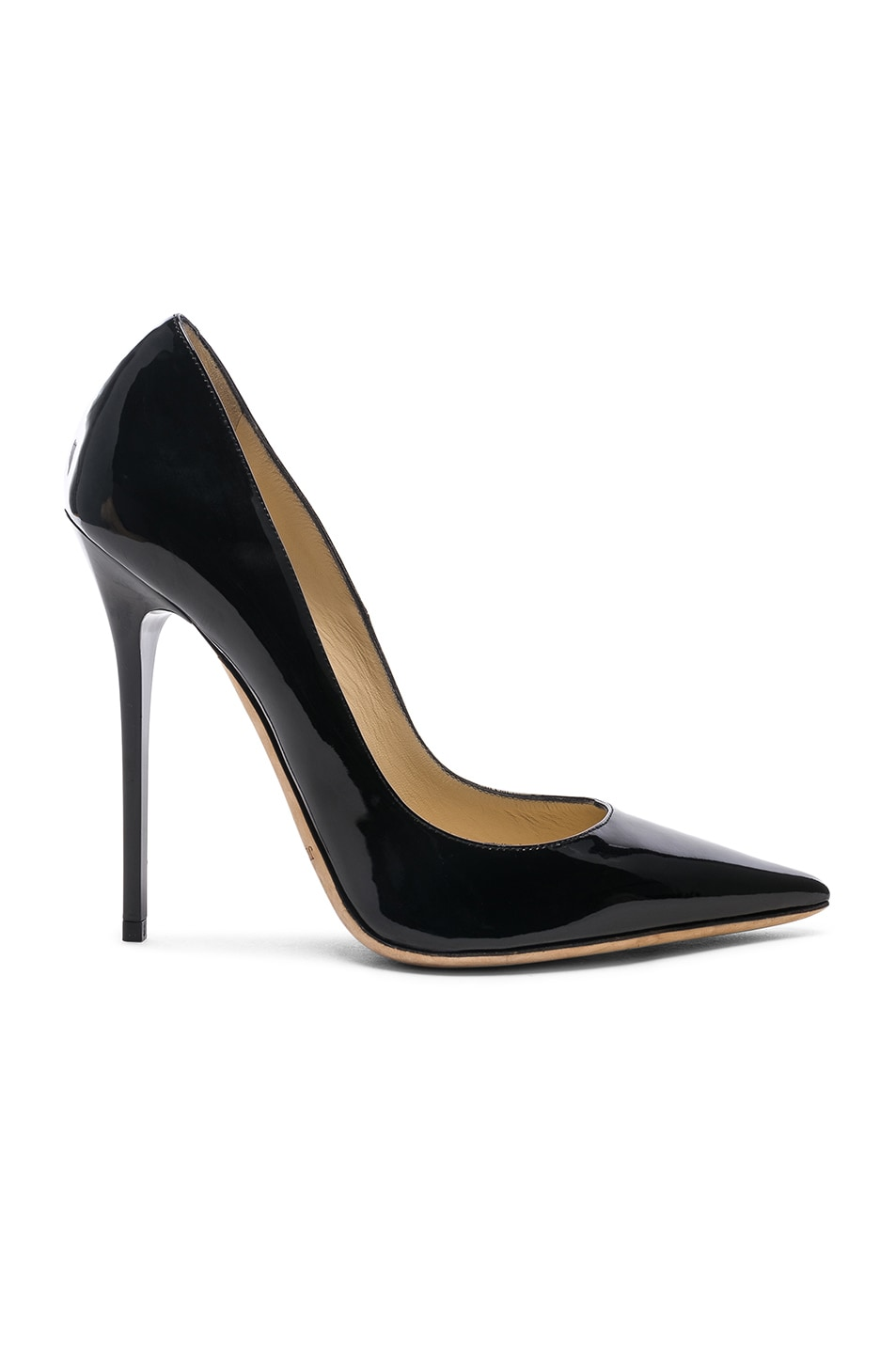 Image 1 of Jimmy Choo Anouk 120 Patent Leather Pump in Black