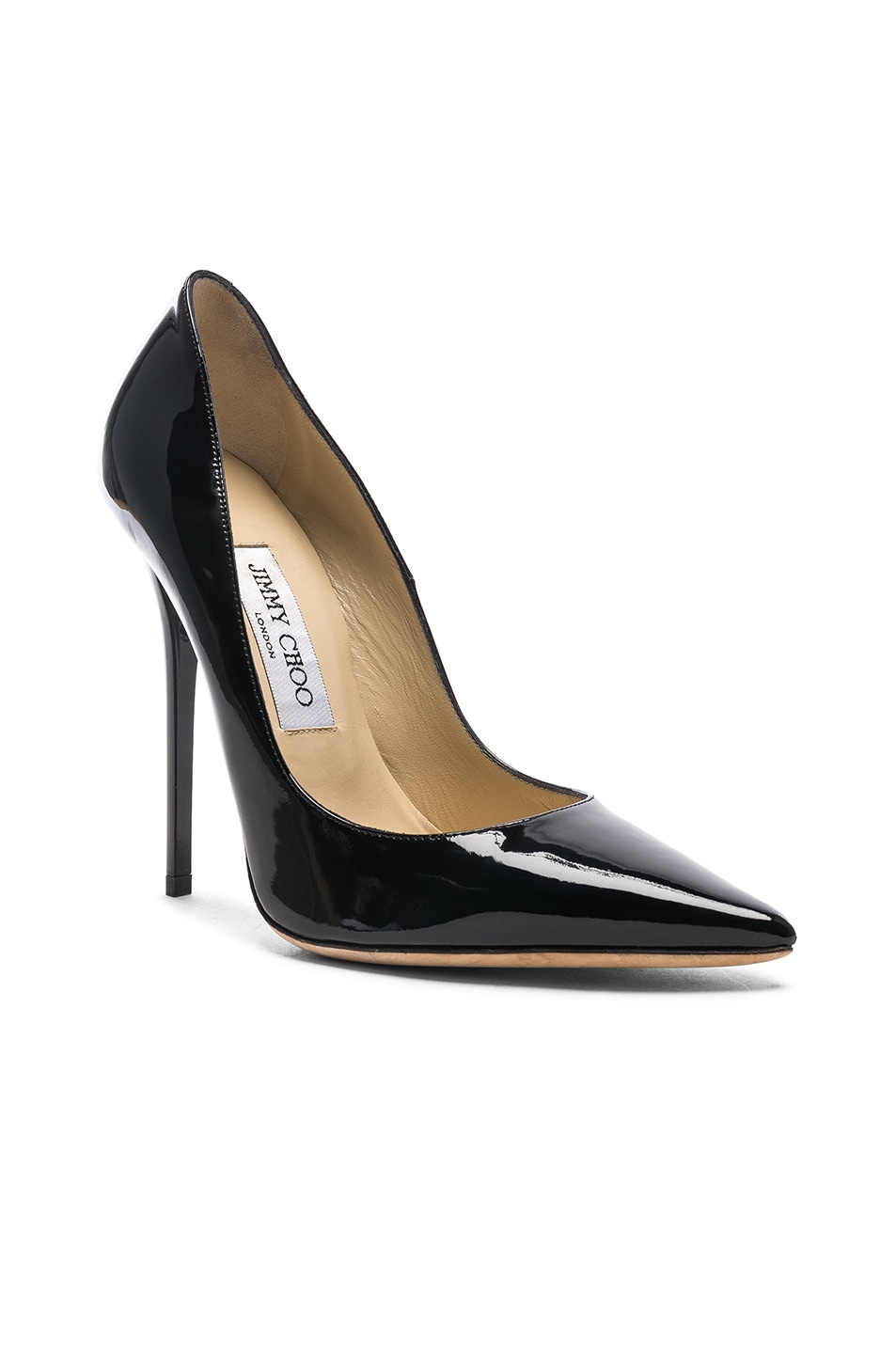 Image 2 of Jimmy Choo Anouk 120 Patent Leather Pump in Black