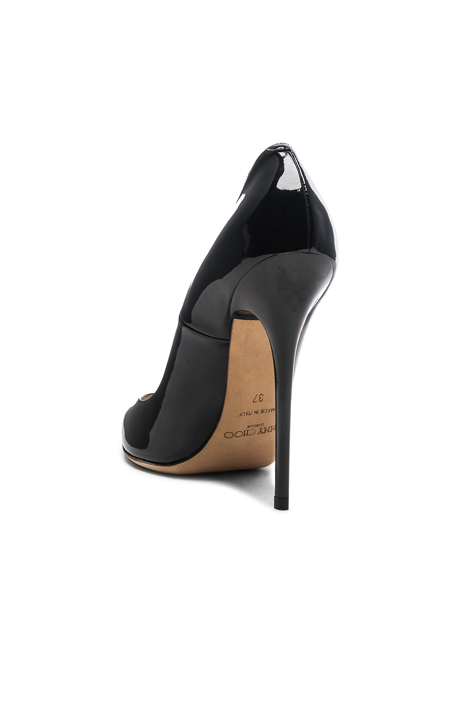 Image 3 of Jimmy Choo Anouk 120 Patent Leather Pump in Black