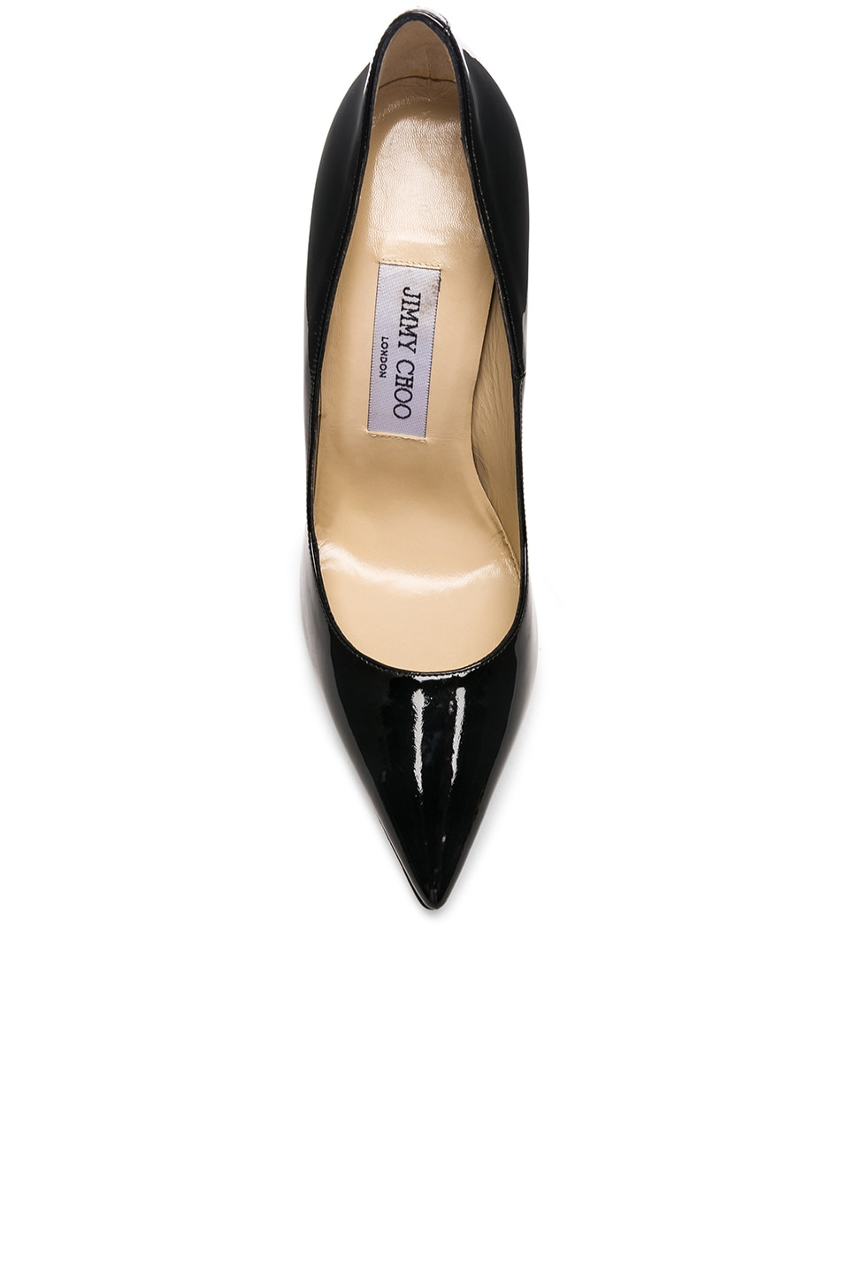 Image 4 of Jimmy Choo Anouk 120 Patent Leather Pump in Black