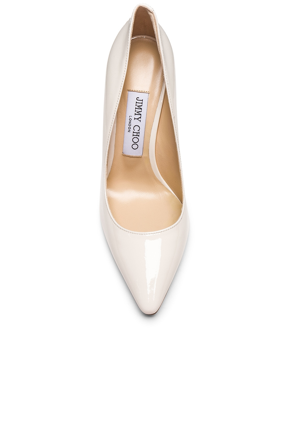 Image 4 of Jimmy Choo Romy 100 Patent Leather Heels in Chalk