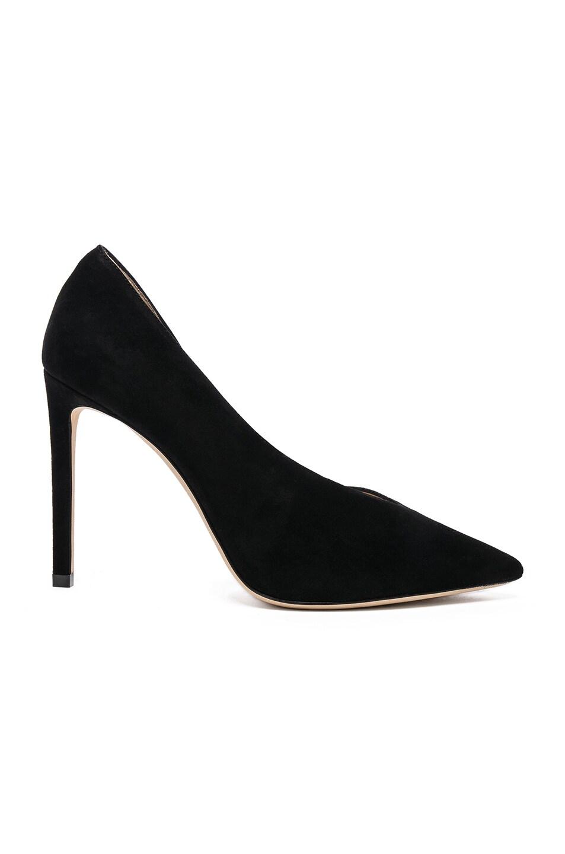 Image 1 of Jimmy Choo Sophia 100 Suede Heels in Black