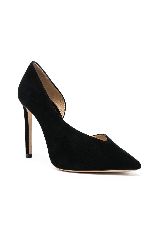 Image 2 of Jimmy Choo Sophia 100 Suede Heels in Black