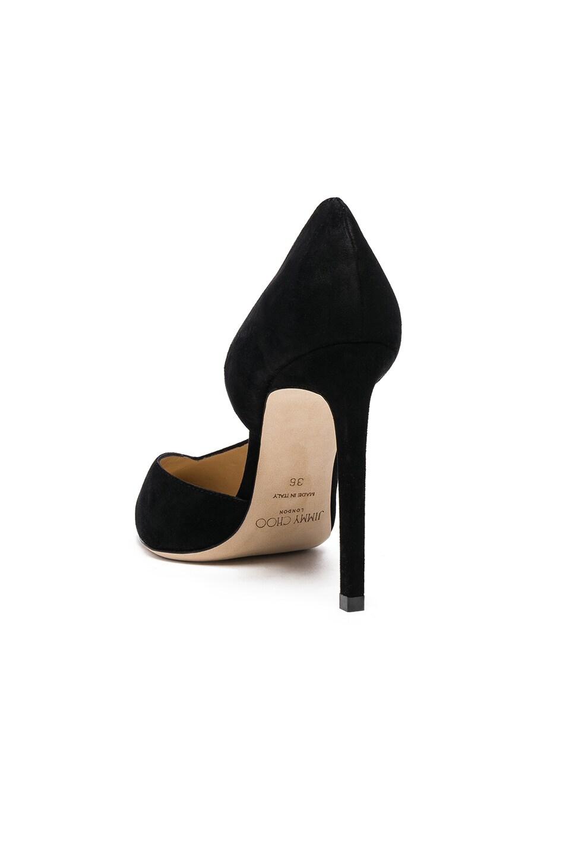 Image 3 of Jimmy Choo Sophia 100 Suede Heels in Black