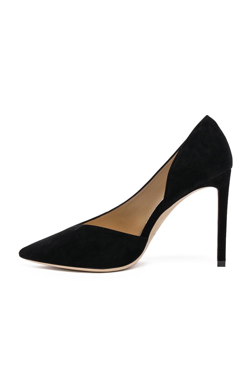 Image 5 of Jimmy Choo Sophia 100 Suede Heels in Black