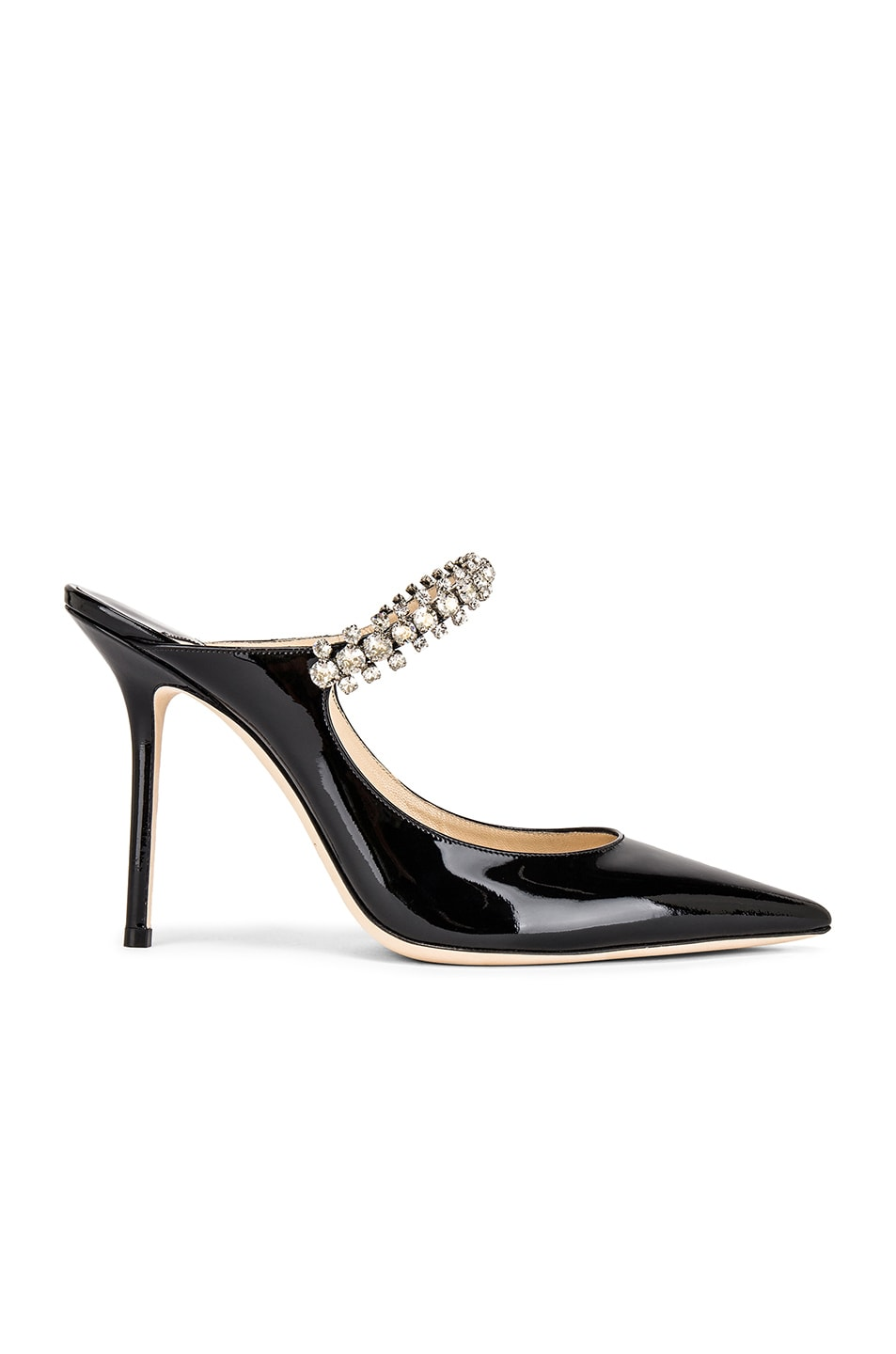 Image 1 of Jimmy Choo Bing 100 Patent Leather Mule in Black