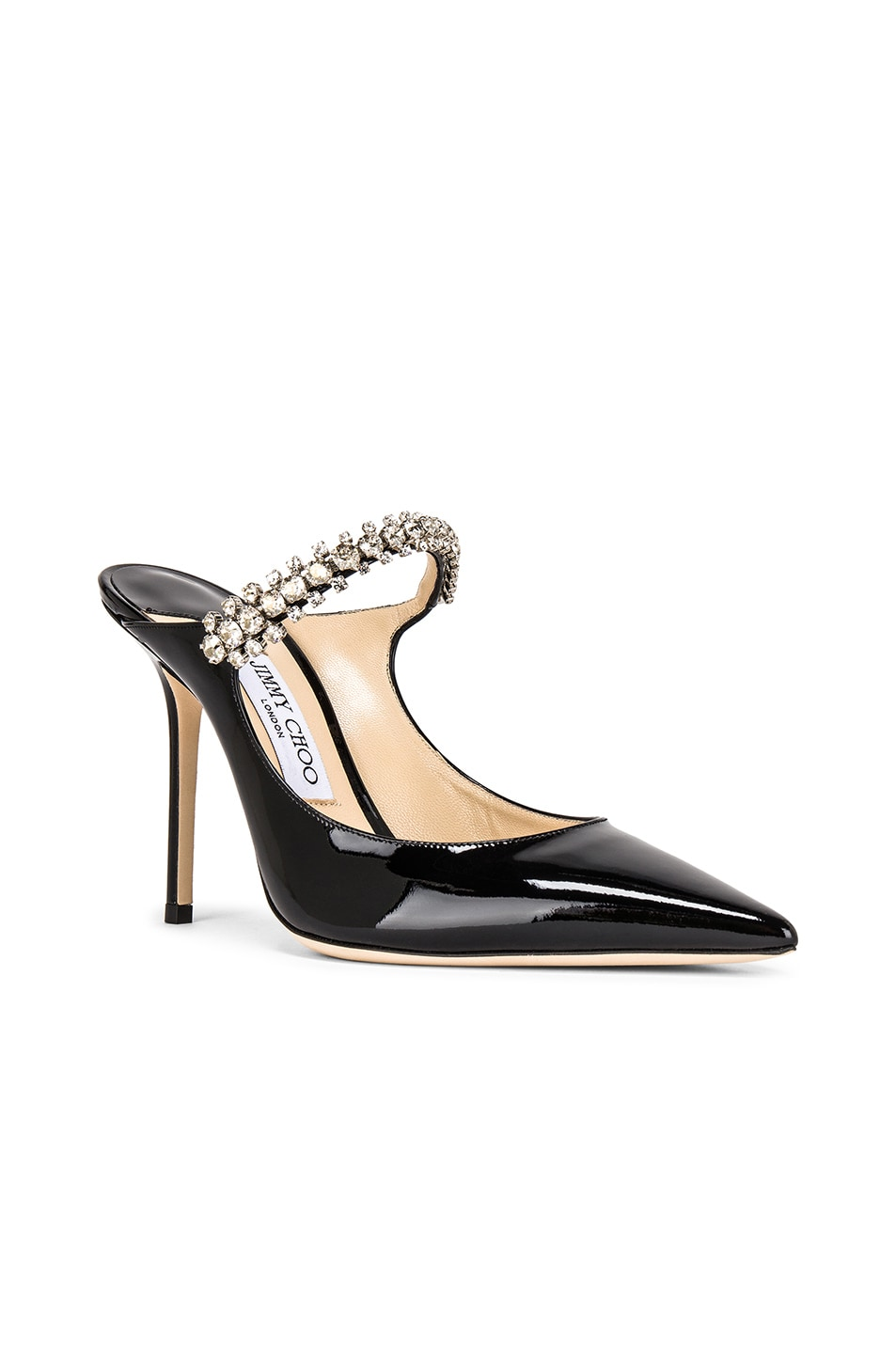 Image 2 of Jimmy Choo Bing 100 Patent Leather Mule in Black