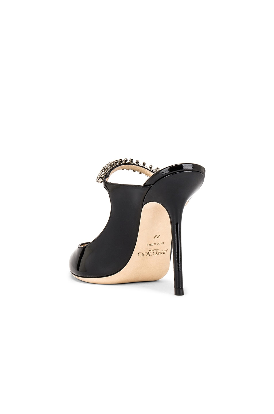 Image 3 of Jimmy Choo Bing 100 Patent Leather Mule in Black