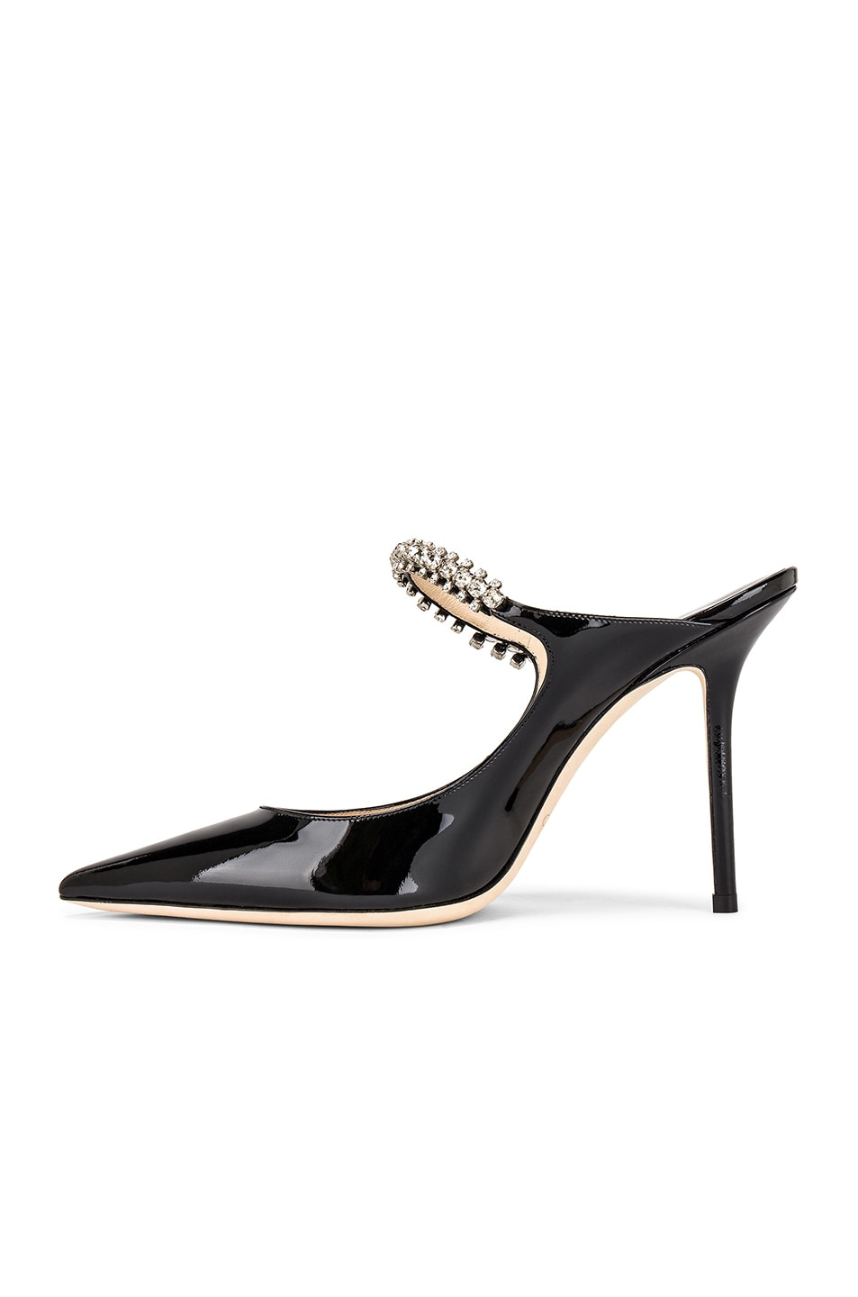 Image 5 of Jimmy Choo Bing 100 Patent Leather Mule in Black