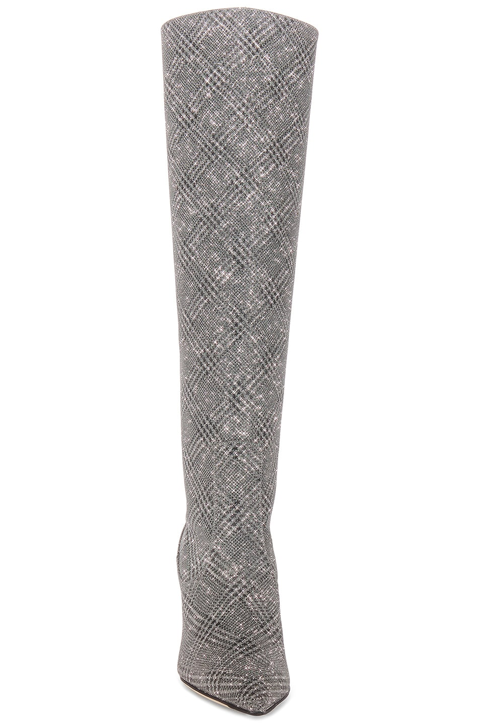 Image 5 of Jimmy Choo Mavis 85 Glitter Boots in Silver