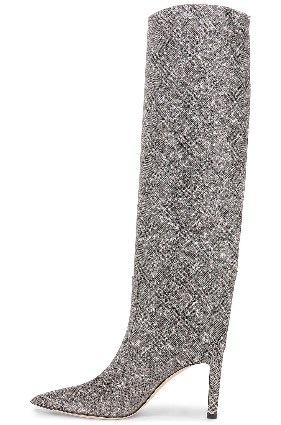 Image 6 of Jimmy Choo Mavis 85 Glitter Boots in Silver